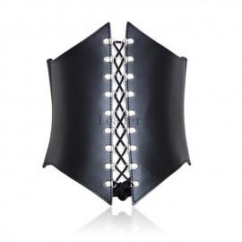 Adjustable Leather Bondage Corset