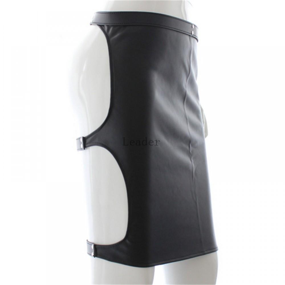 Adjustable Leather Bondage Skirt